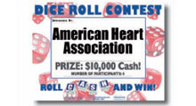 Add-on dice roll contest sign