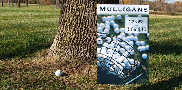 Golf event insurance signage hole in one insurance million mulligan sign thecheapjerseys Image collections