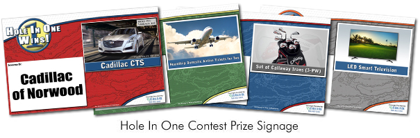 Sample Hole In One Insurance Contest Signs